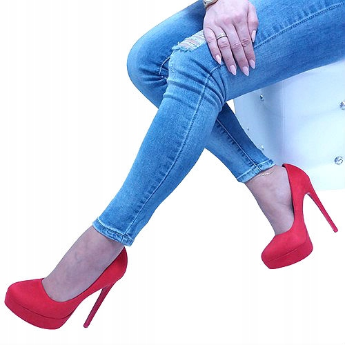 Item STILETTO heels pumps red SEXY KBU745