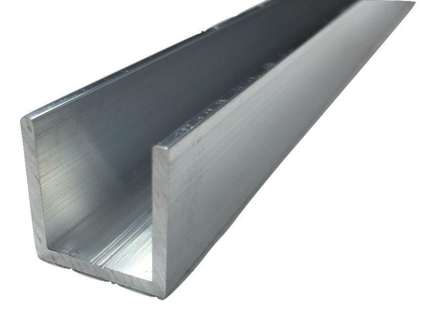 Алюминиевый швеллер 45 мм x 25 мм x 2,5 мм, длина 2 м