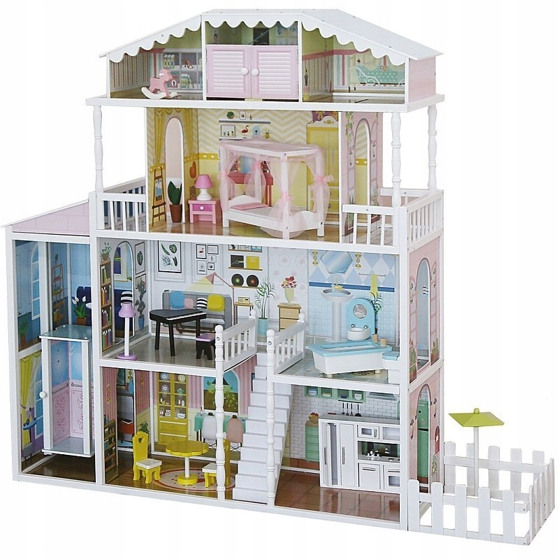 Obrovský domček pre bábiky MONIKA 4 poschodia drevený