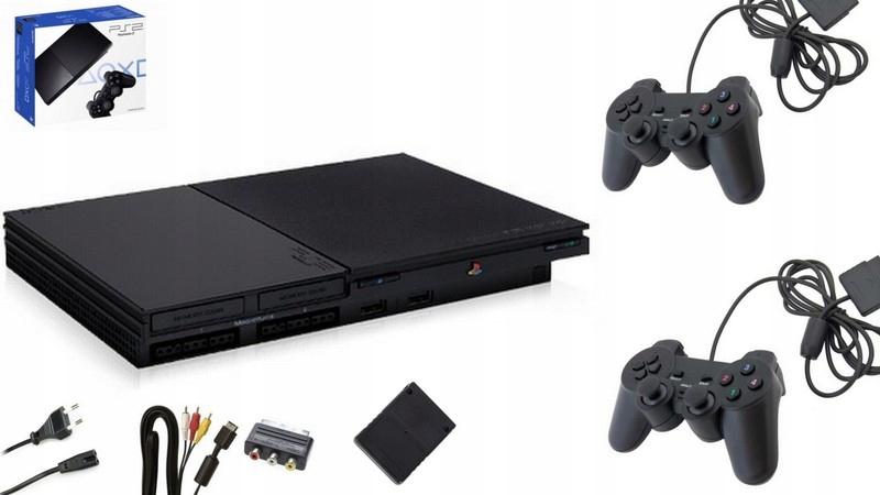 Item Sony PlayStation 2 Slim + 2 PADS + CARD + GAME
