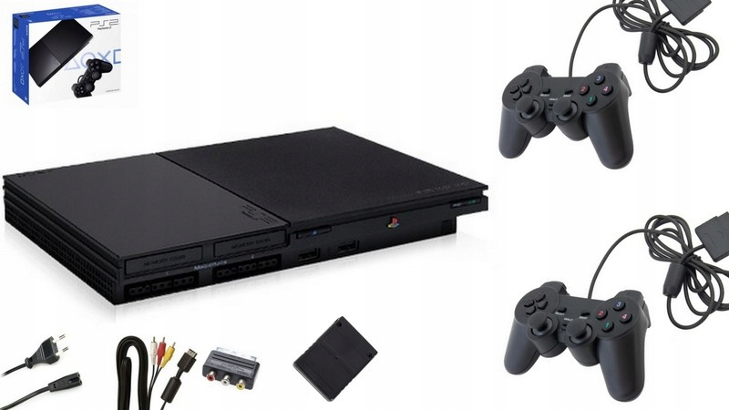 Sony PlayStation 2 Slim + 2 PADY + KARTA + GRY