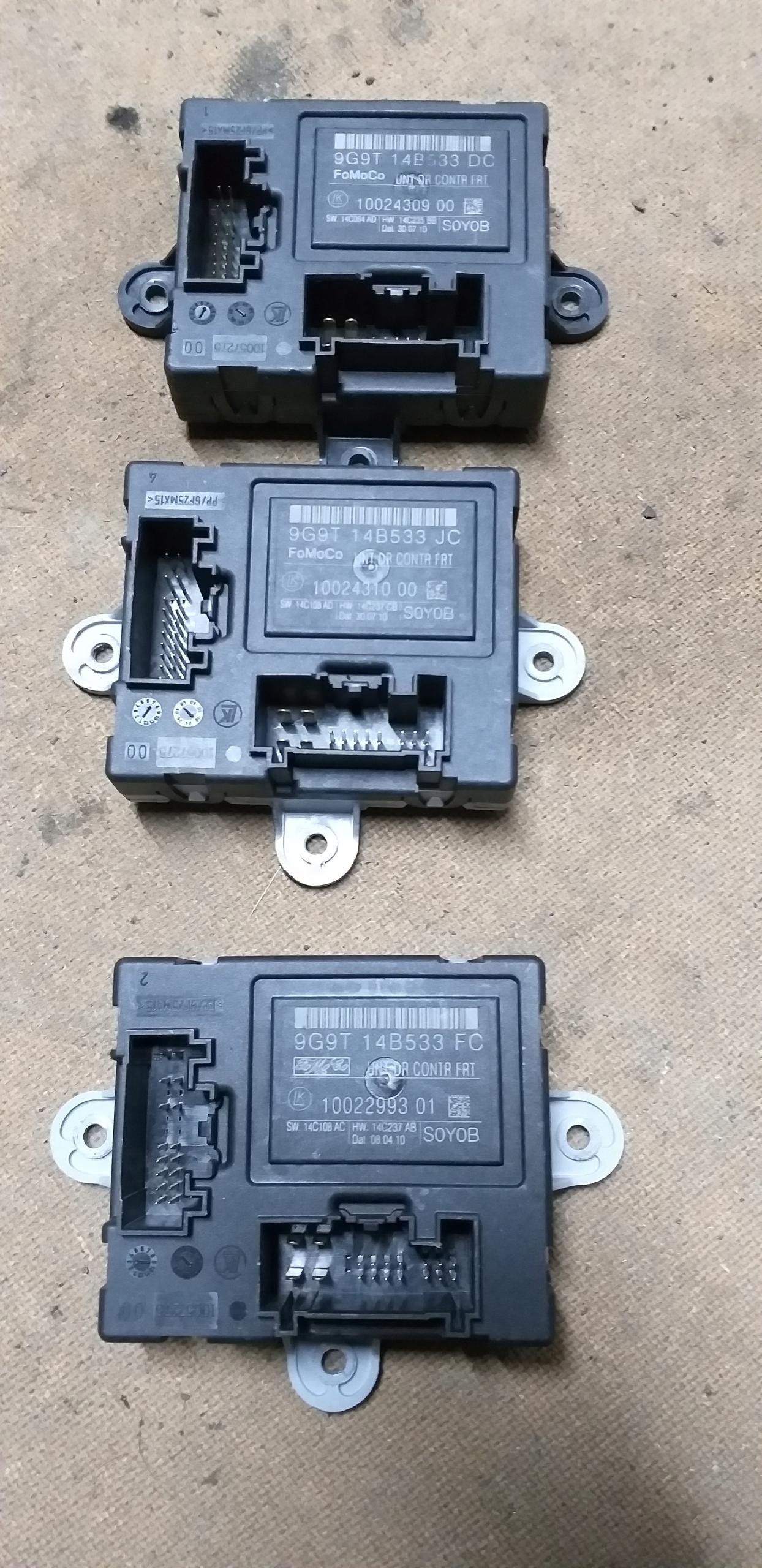 модуль драйвера двери 9g9t14b533 mondeo mk4