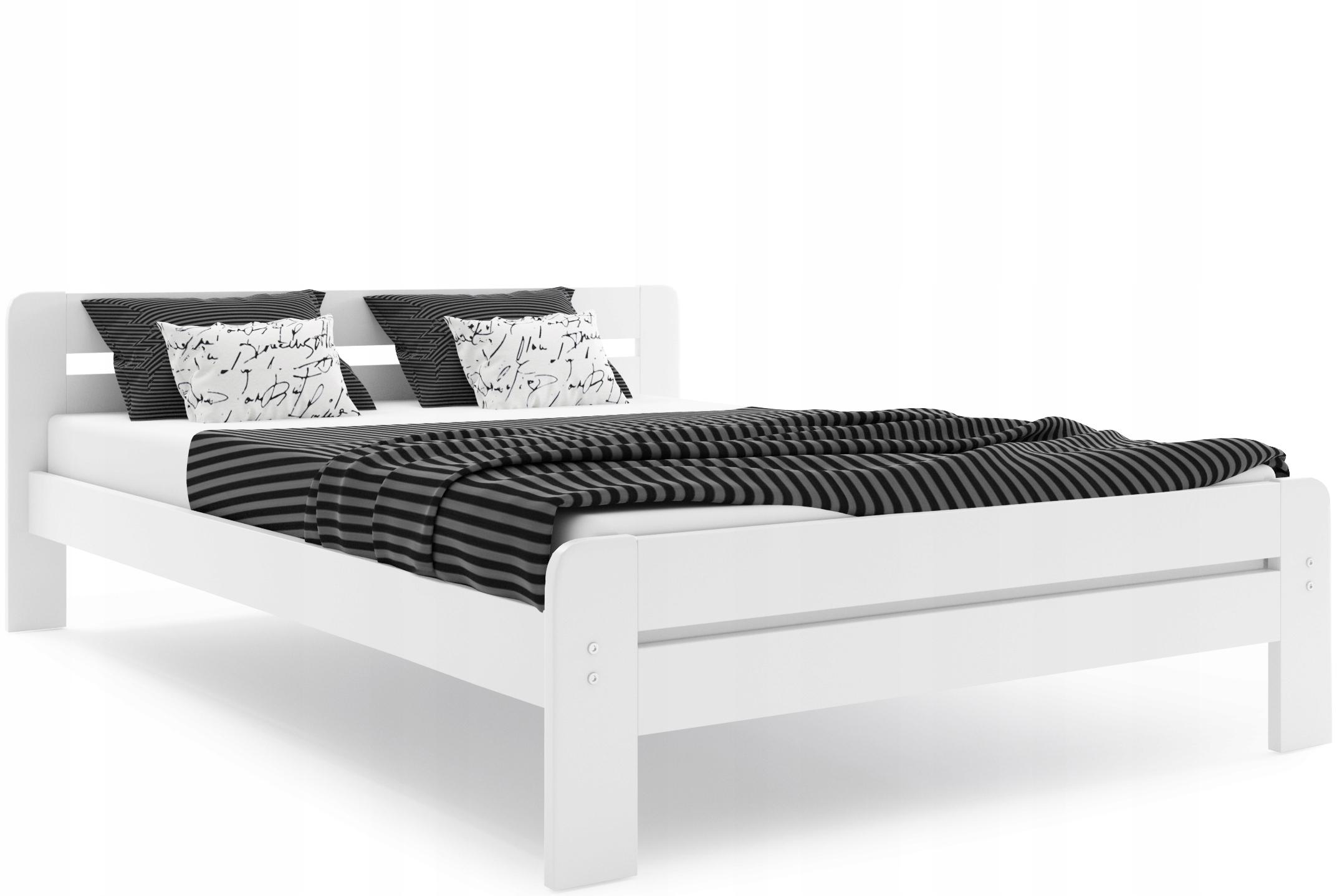 łóżko Dallas O 140x200 i Stelaż i Materac Sypialnia