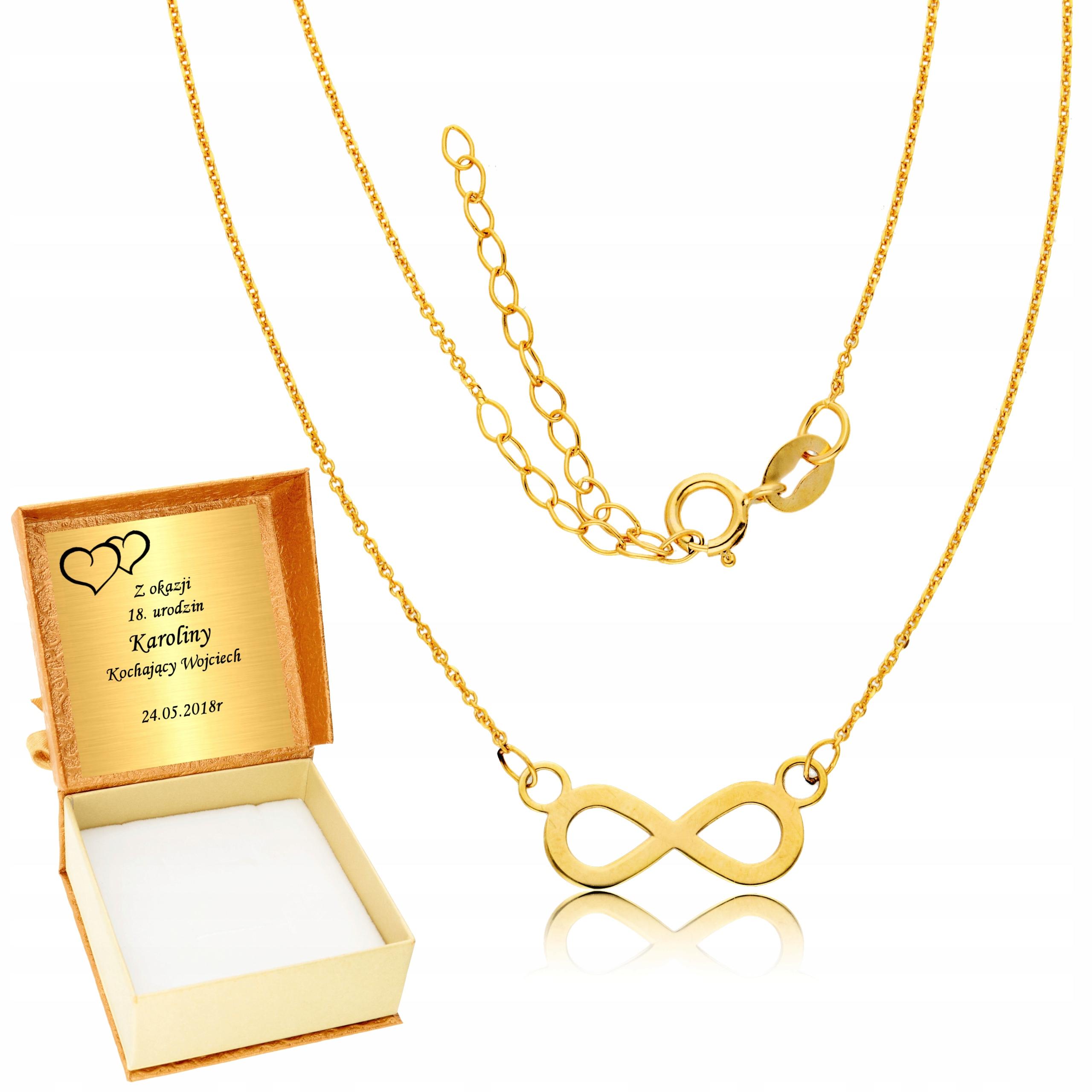 Zlato Infinity Náhrdelník Celebrytka Rytca