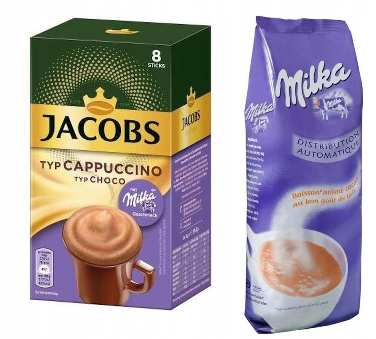 КАПУЧИНО Jacobs Milka 8x18g + Milka питьевое 1кг