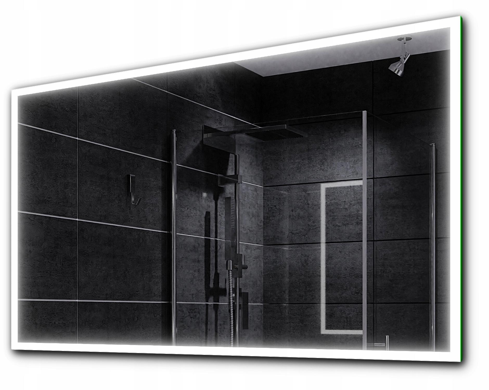 зеркало для ванной комнаты с подсветкой LED 80x60