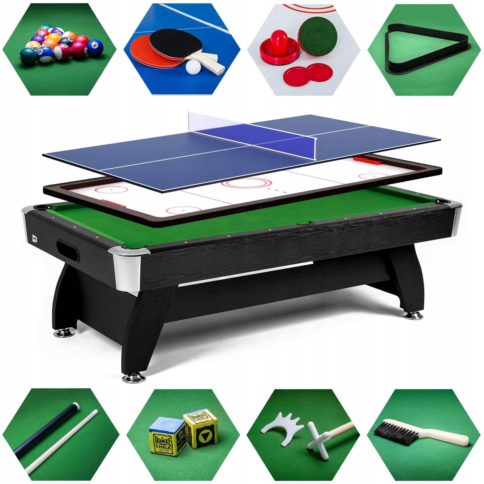 Stół bilardowy 9 ft с nakładką cymbergaj ping pong
