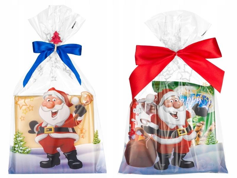 Пластиковые пакеты рождество санта-КЛАУС 20x35 10шт пресвятой девы МАРИИ