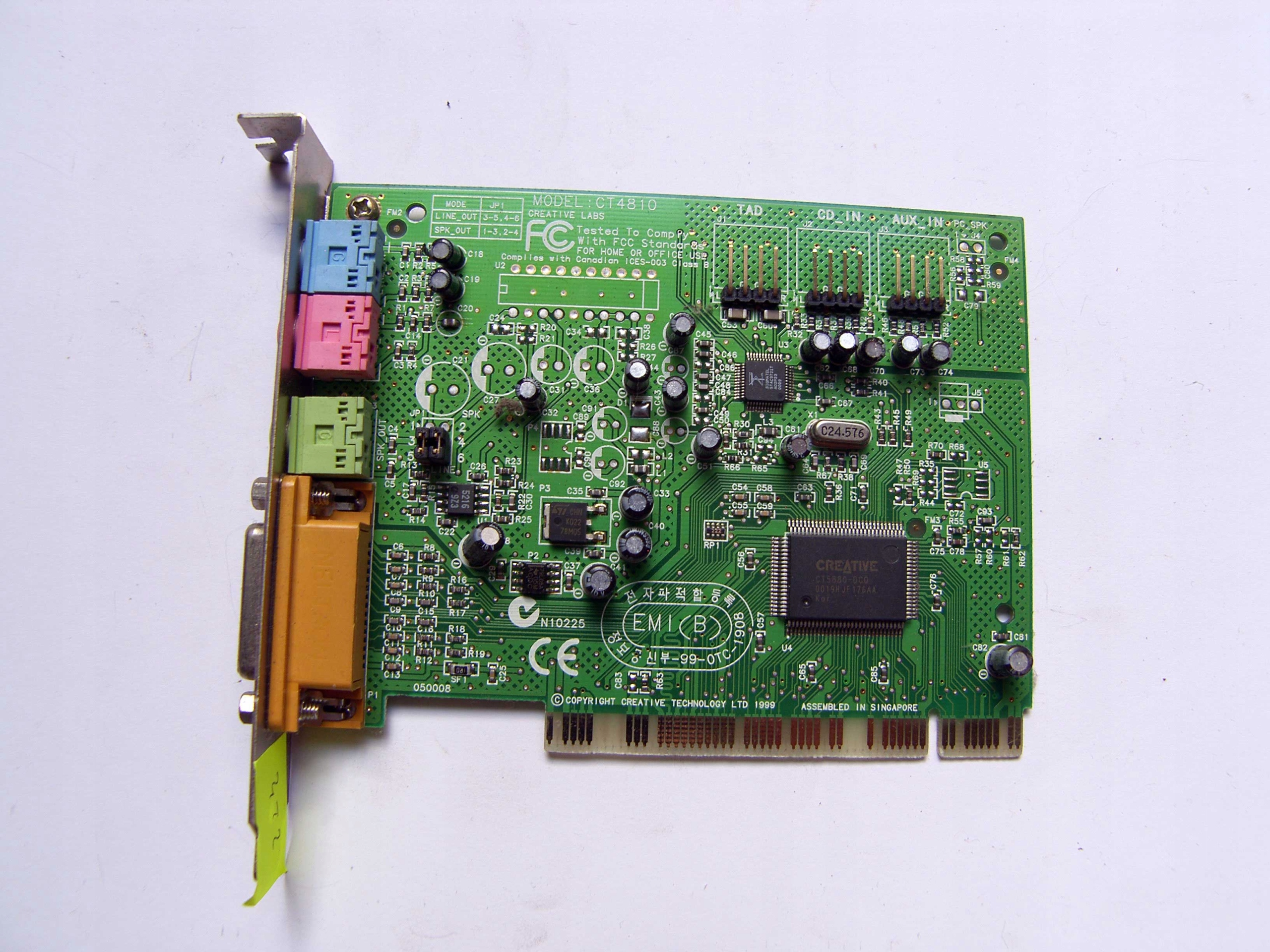 DRIVER FOR CREATIVE CT4810 DLA
