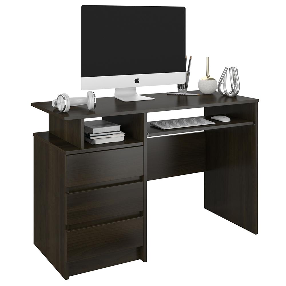 Nábytok, počítač, písací Stôl 3sz 114 cm wenge N73