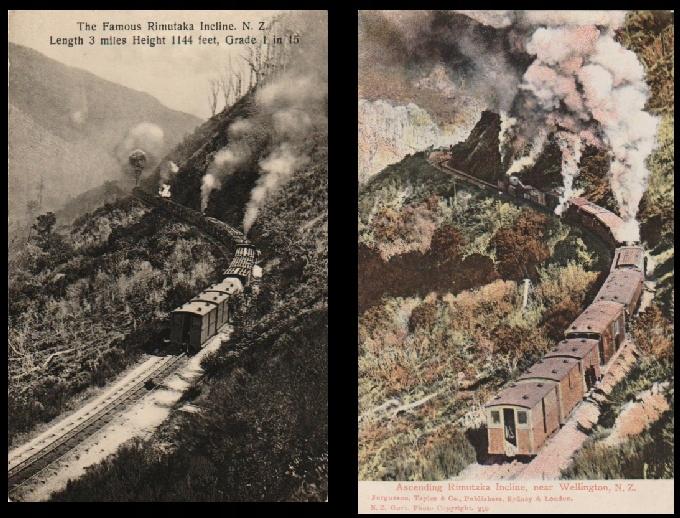 Incline Rimutaka. NOVÝ ZÉLAND. 2 karty. 191-?