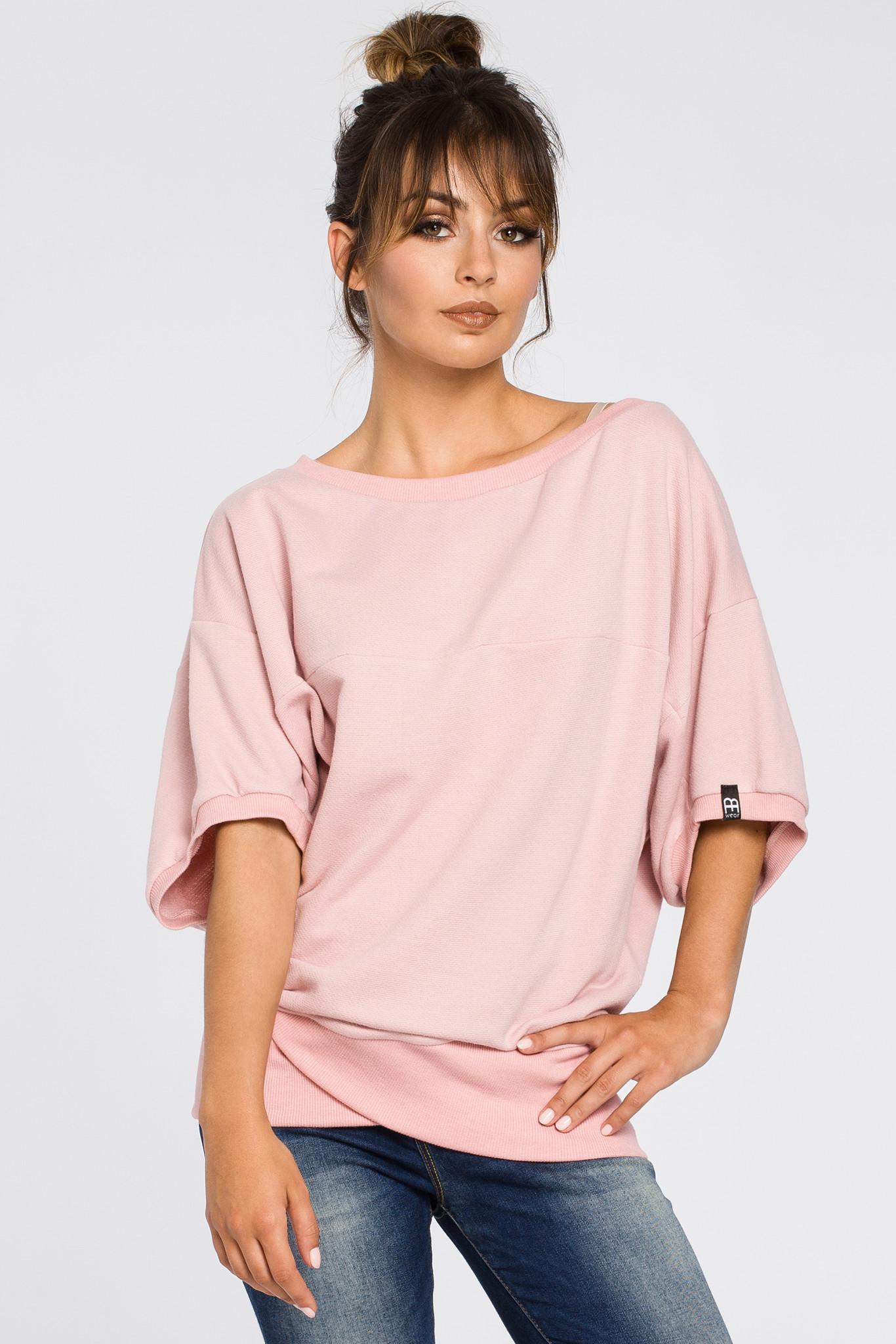 Dzianinowa Bluza Oversize Zakładany Dół L/XL