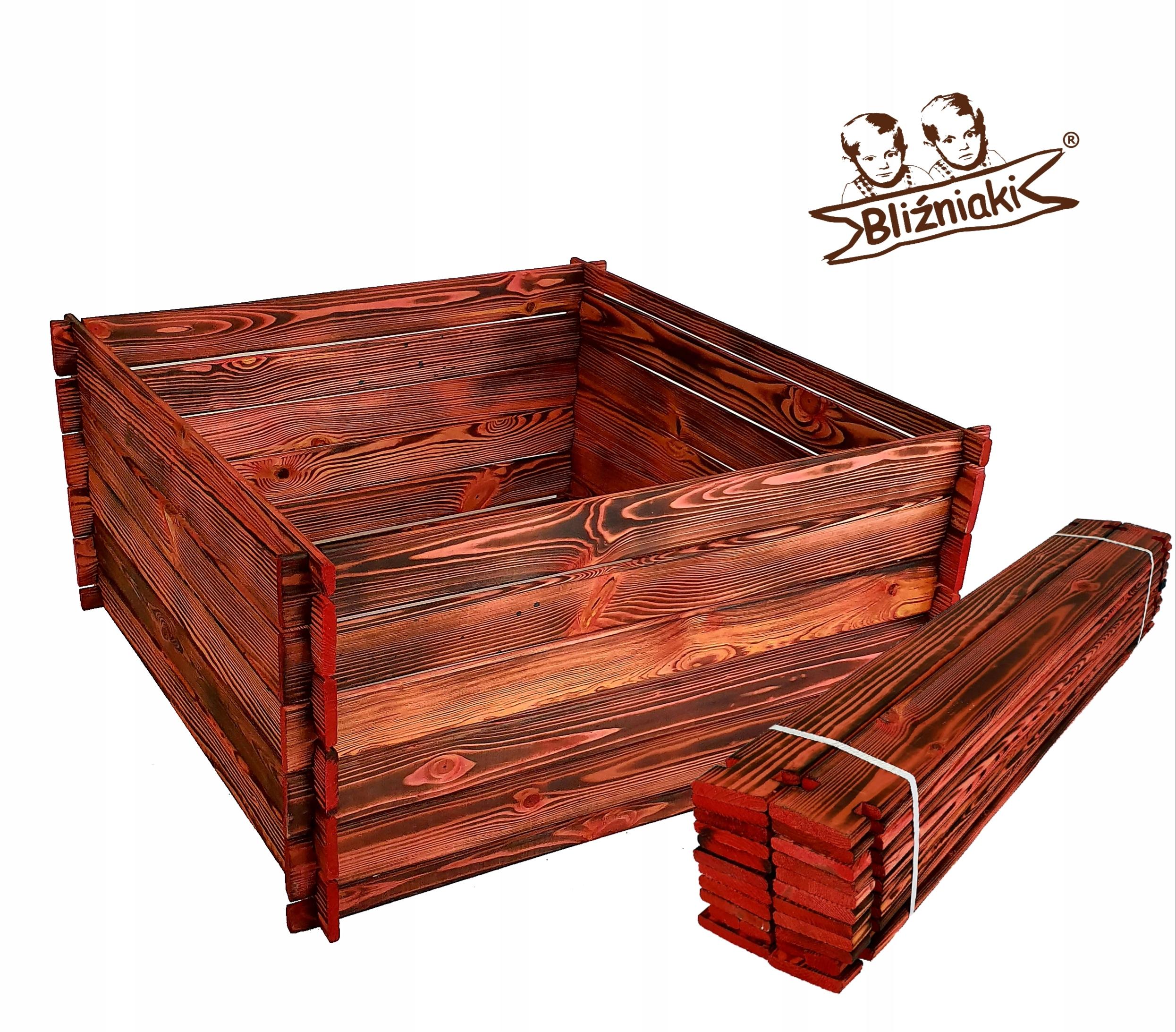 Drevené composter Veľké 95x95x46 Jednoduchá inštalácia