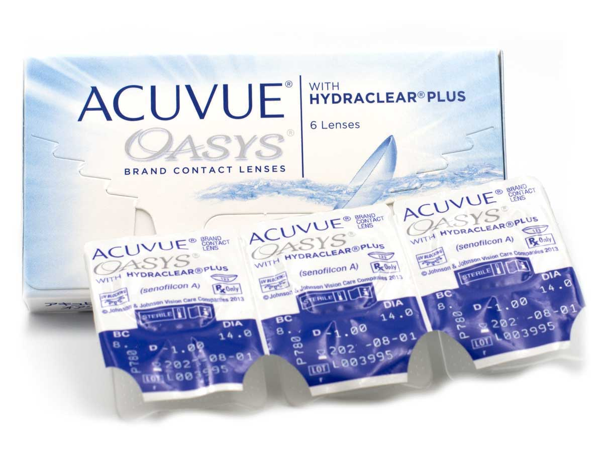 Item ACUVUE OASYS contact lenses, 6pcs
