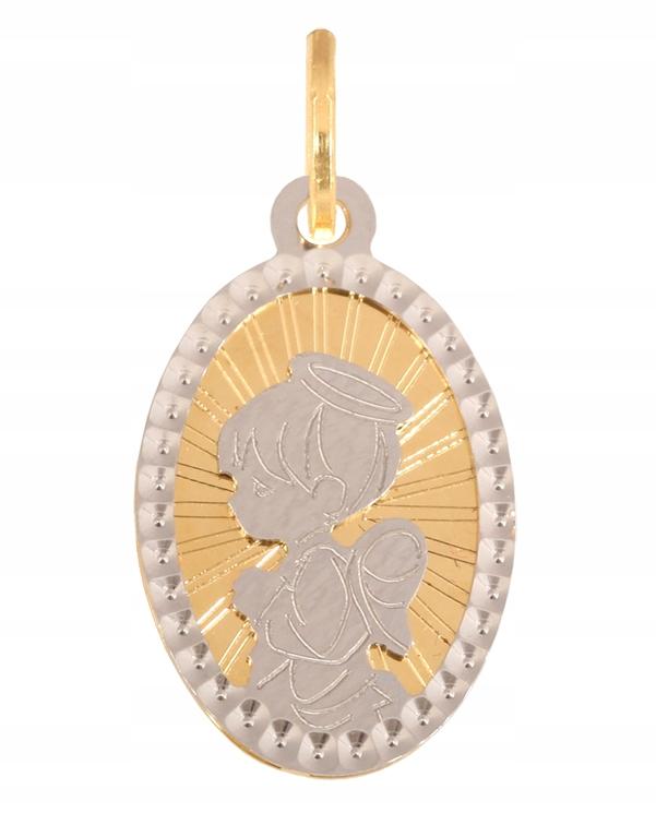 Zlatý náhrdelník anjel Medailón 585 0.90 g