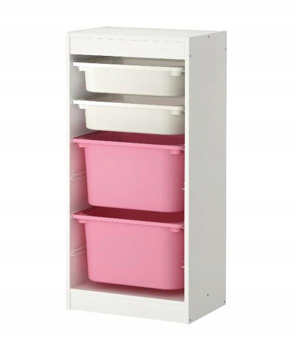 ИКЕА ТРОФАСТ шкаф книжный БЕЛЫЙ + 4 контейнера для игрушек # 5