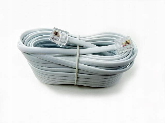 Купить кабель телефонный кабель RJ 11 6p4c rj11 20м на Otpravka - цены и фото - доставка из Польши и стран Европы в Украину.