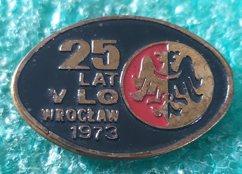 Купить ЗНАК 25 ЛЕТ V Л.О. ВРОЦЛАВ 1973 на Otpravka - цены и фото - доставка из Польши и стран Европы в Украину.