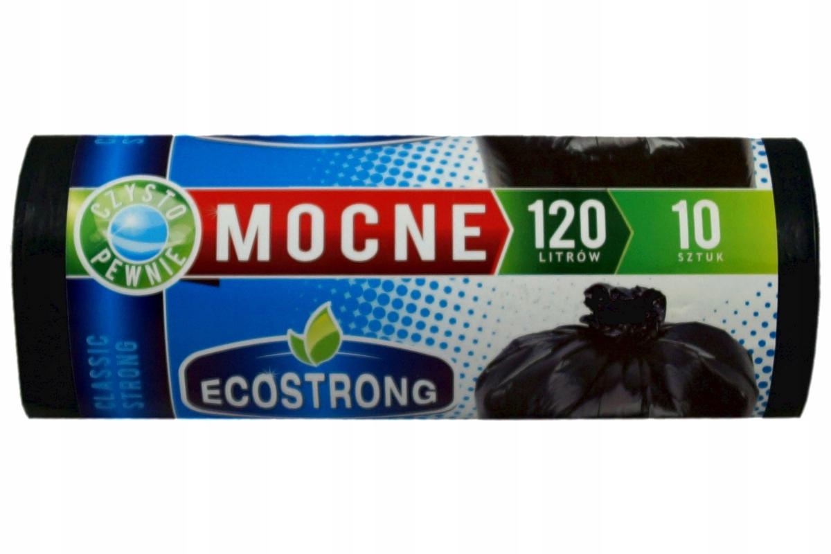 Мешки для мусора ECOSTRONG 120 л x 10 шт ПВД