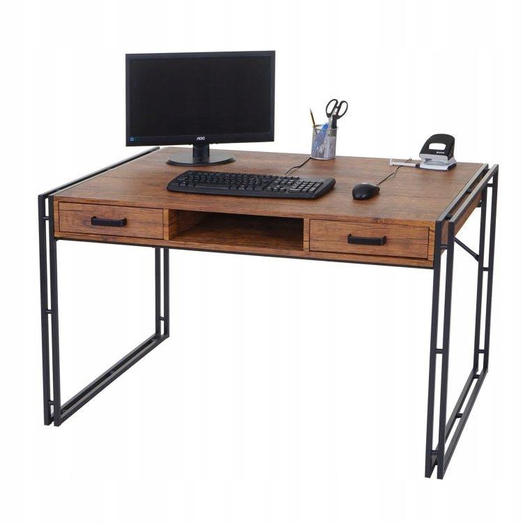 Retro počítačový stôl, drevená 3D zásuvka HIT!