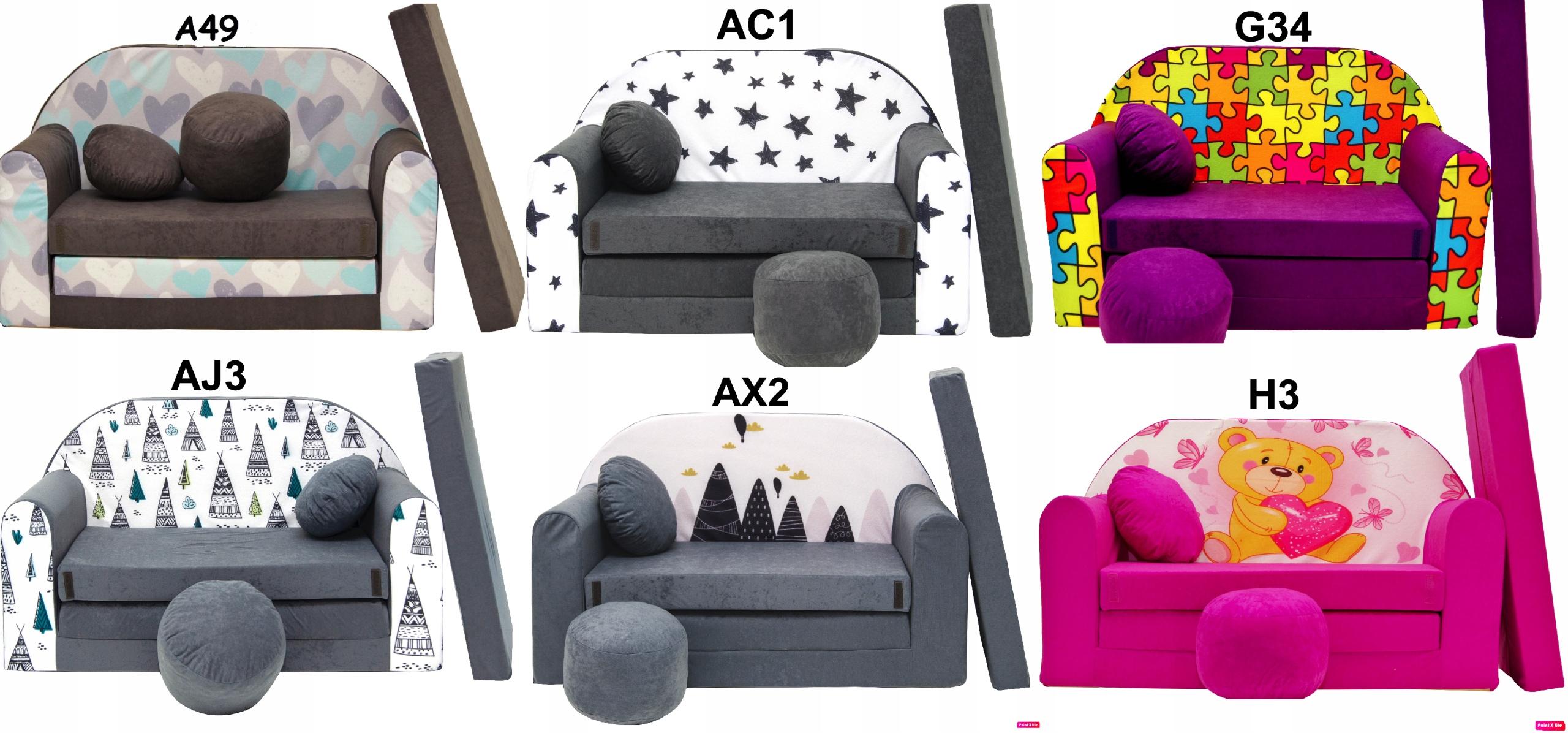 Rozkladacia pohovka rozkladacia pohovka pre deti vankúš posteľ šírka 100 cm
