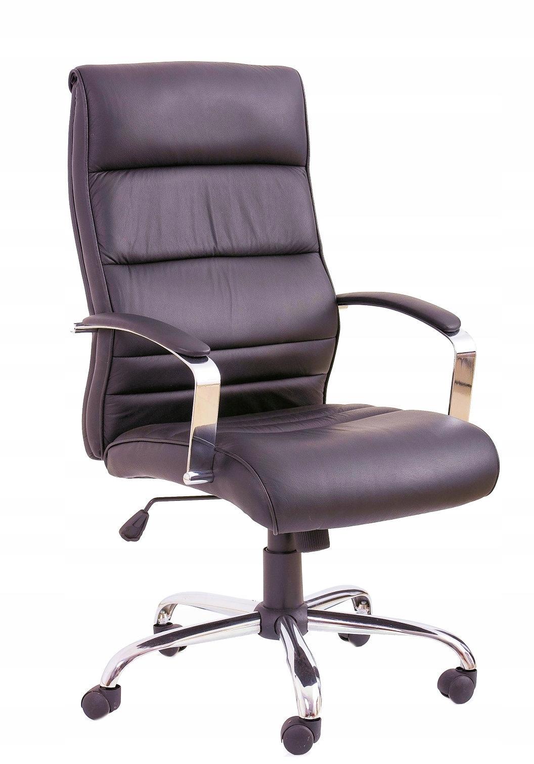 Kreslo kancelárske TEXAS zrna kožené čierne HALMAR