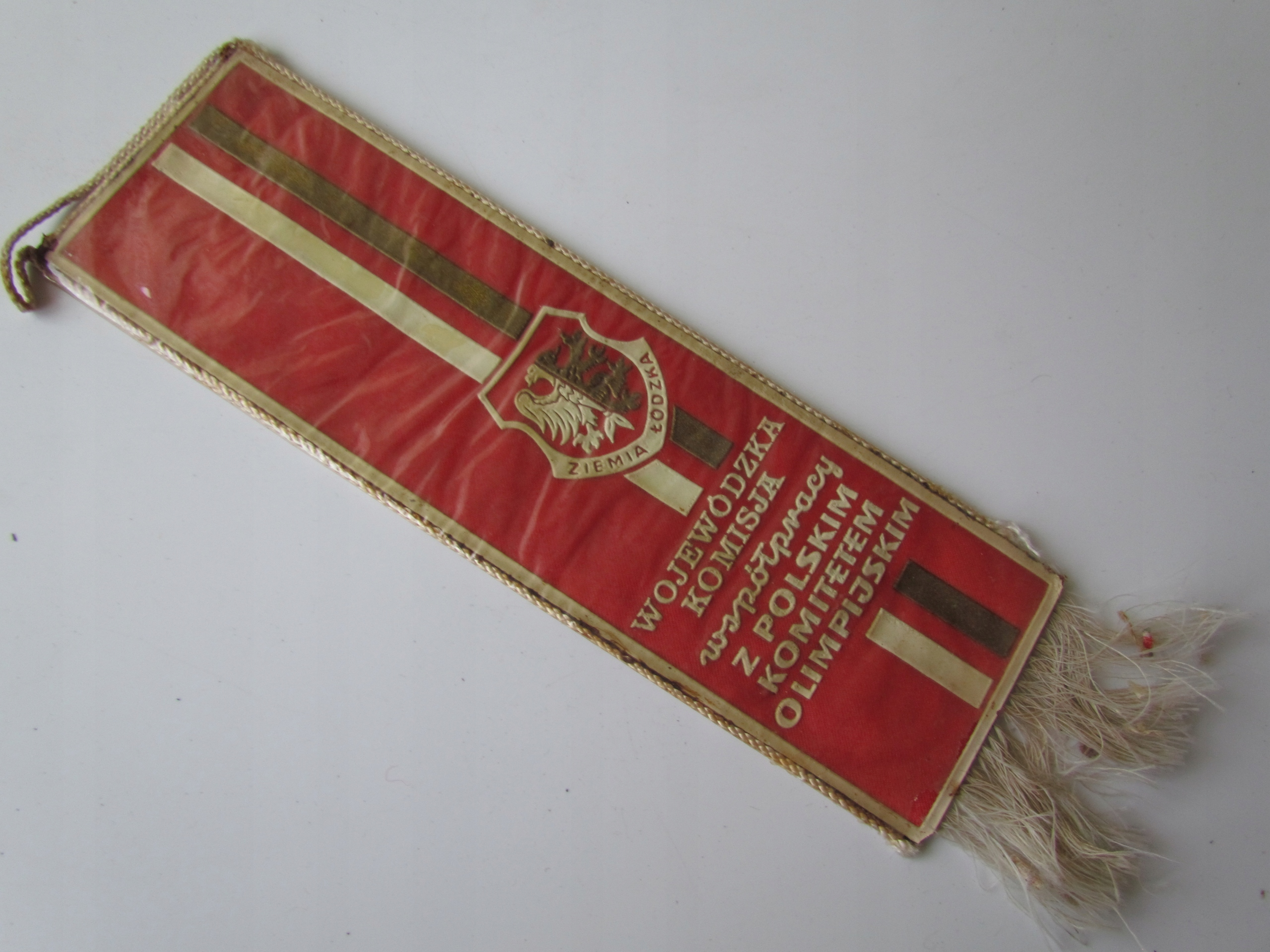 Купить вымпел ЗЕМЛЯ ŁóDZKA герб   KOMITET ОЛИМП на Eurozakup - цены и фото - доставка из Польши и стран Европы в Украину.