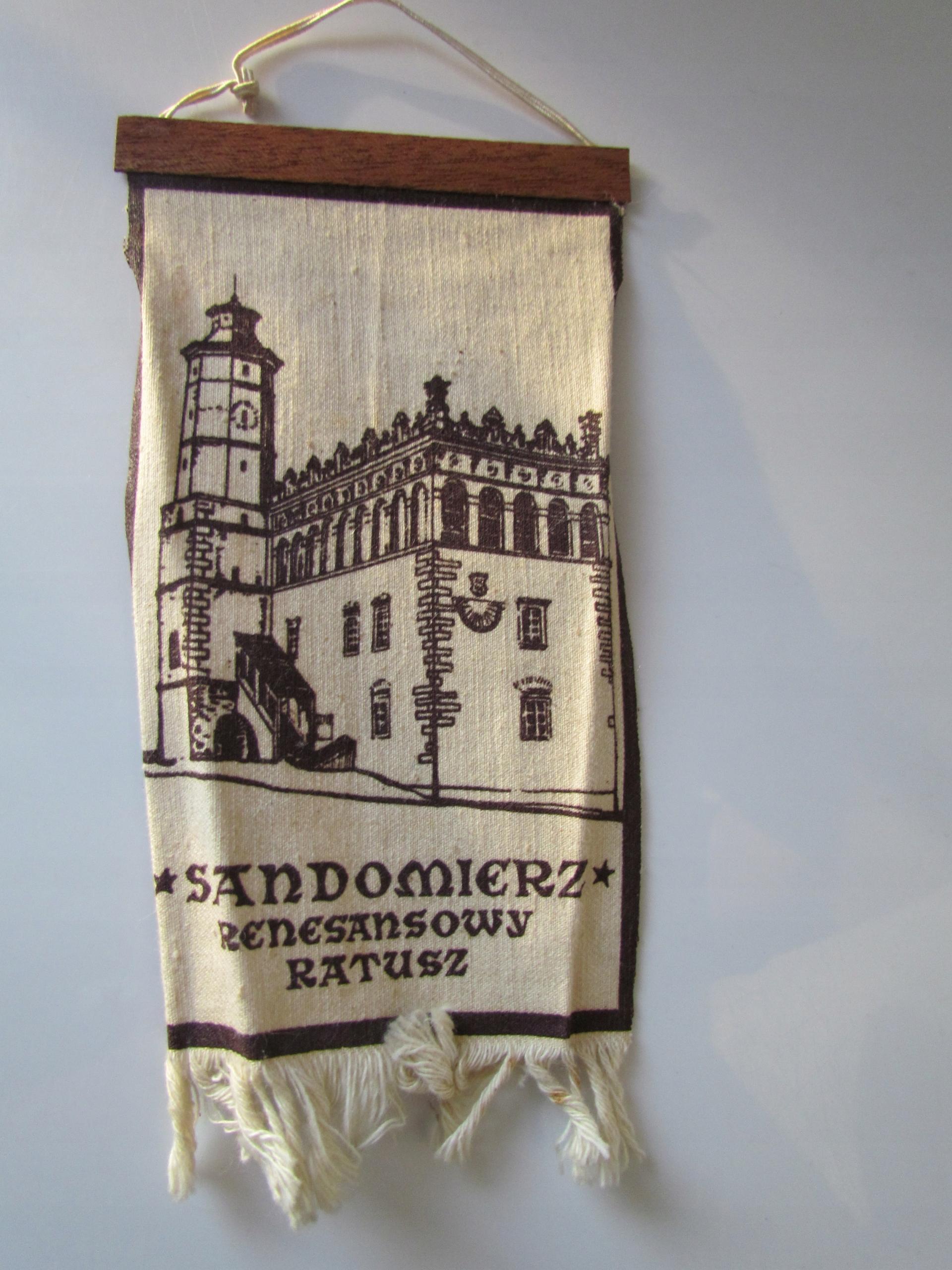 Proporczyk Sandomierz Renesansowy Ratusz