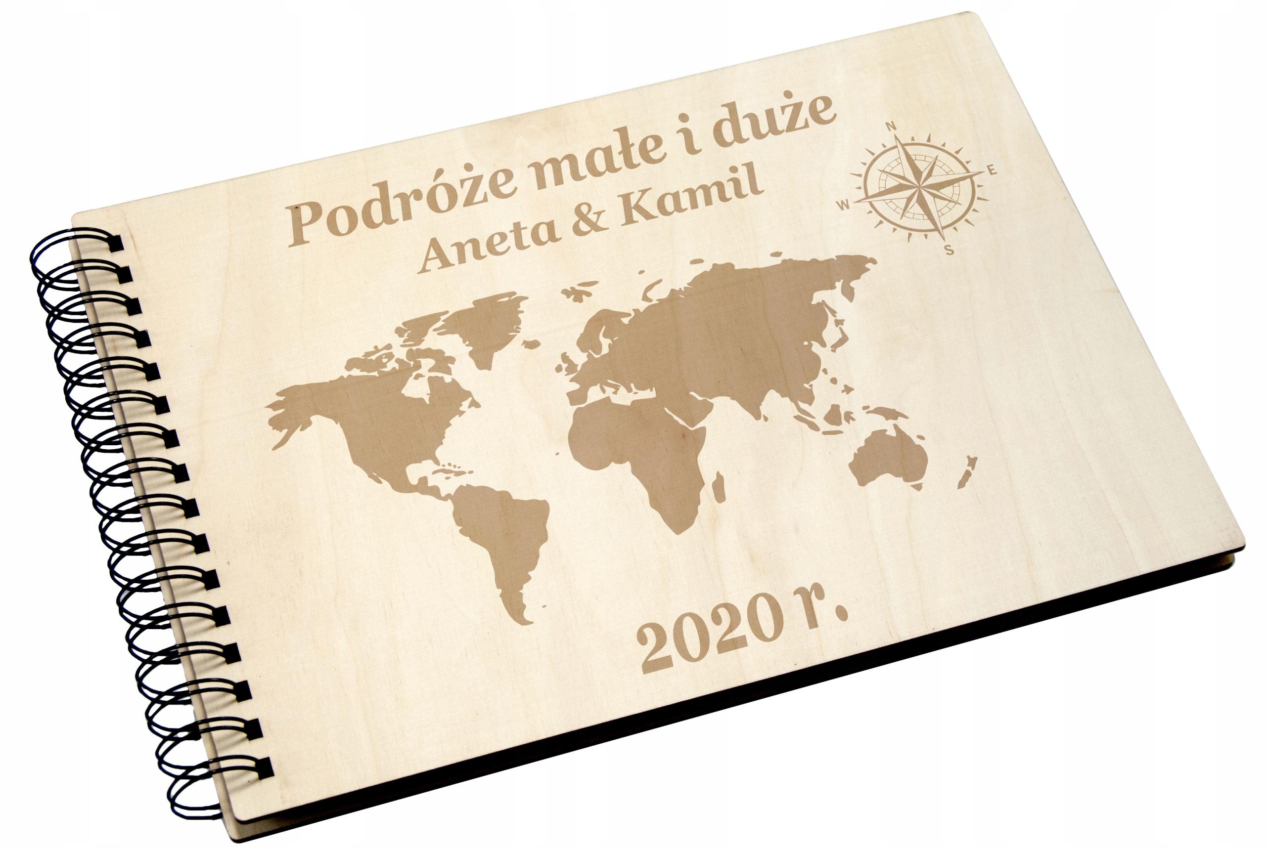 Купить АЛЬБОМ для отдыхающих деревянный путешествия Ваш текст PZ на Otpravka - цены и фото - доставка из Польши и стран Европы в Украину.
