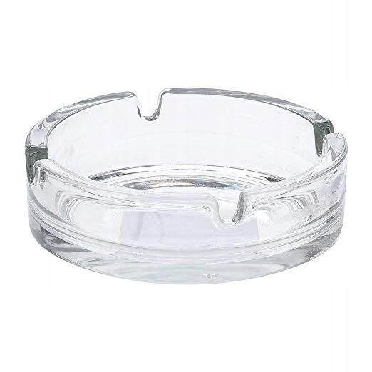 Popielniczka szklana, okrągła 10,5 cm popielnica