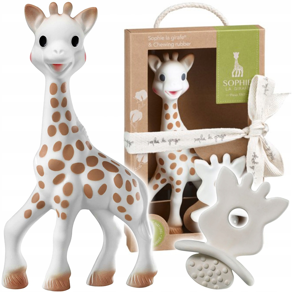 SOPHIE GIRAFFE SET S TEETHER SO'PURE 616624