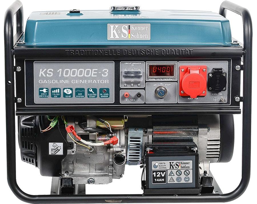 Agregat prądotwórczy 8,0kW 3F KS 10000E-3 benzyna
