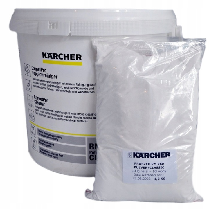 Ковровый стиральный порошок KARCHER RM 760 1.2 KG