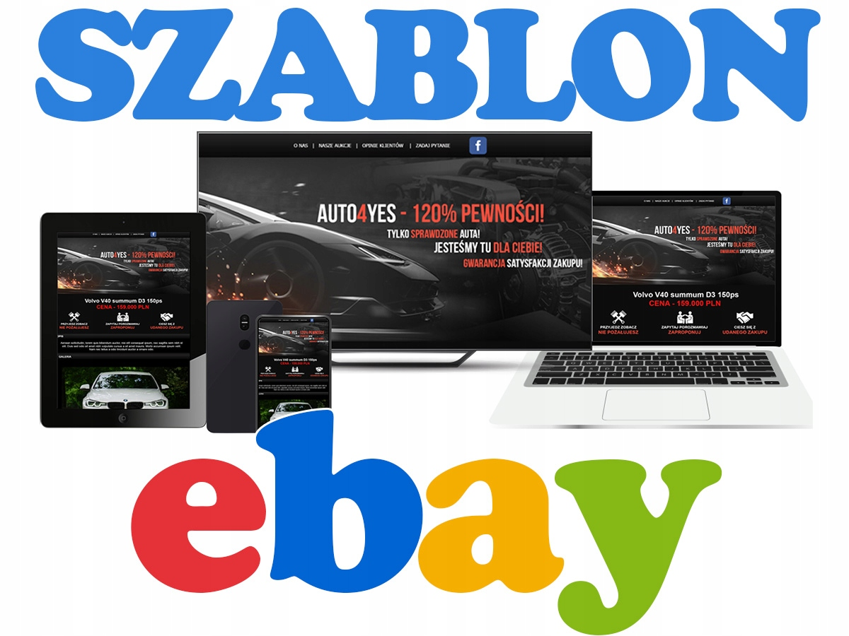 Sklep Ebay Baselinker Szablon Aukcji Logo Psd Sklep Komputerowy Allegro Pl