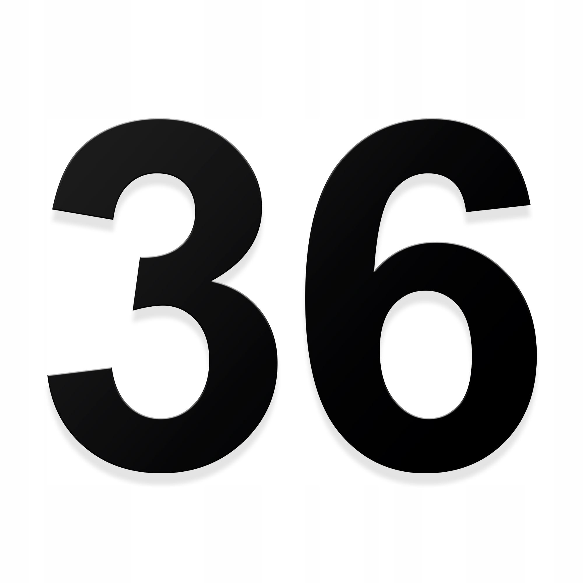 Numer na dom numeracja adres cyfra 3D 23cm kolory