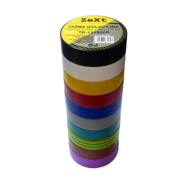 Изоляционная лента изоляция пвх 19мм 20м микс цветов