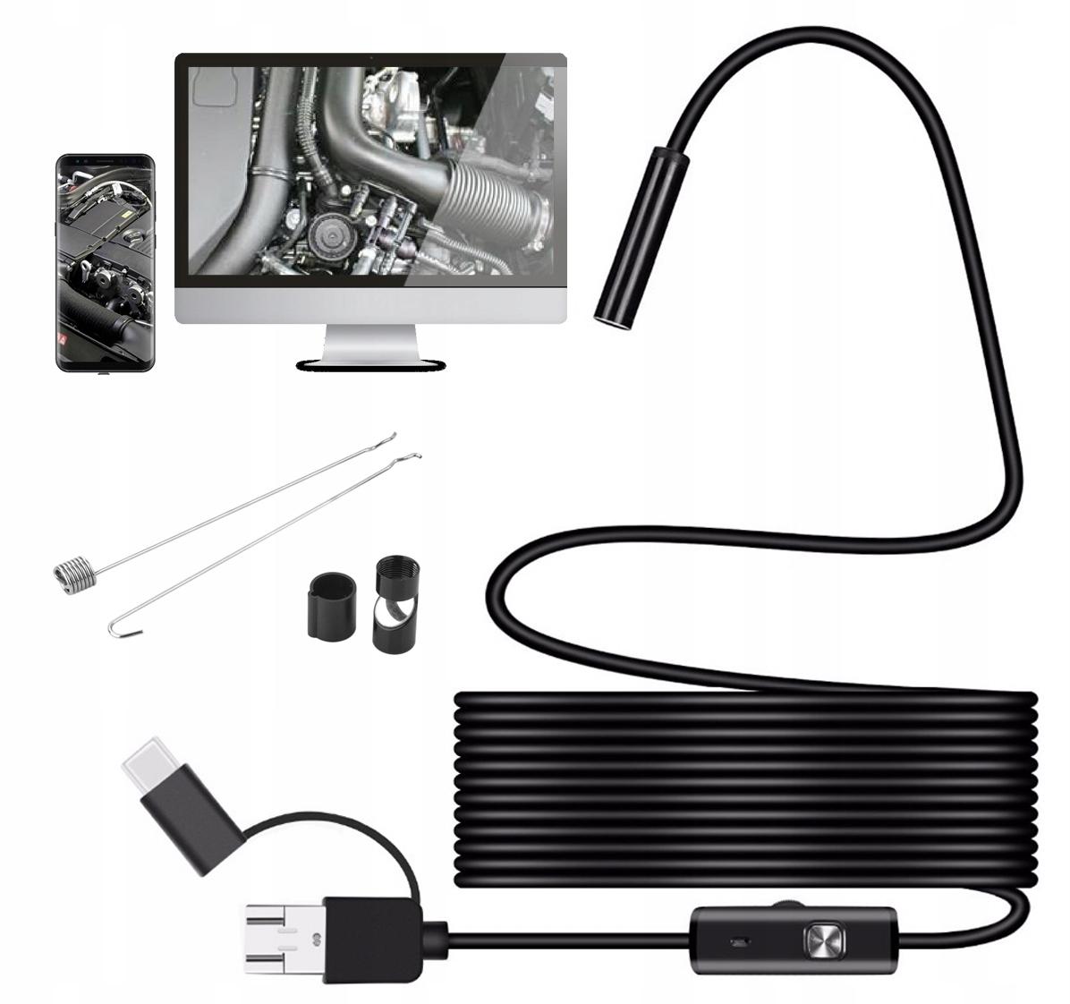 ENDOSKOP Kamera INSPEKCYJNA 5M 960p ANDROID USB C