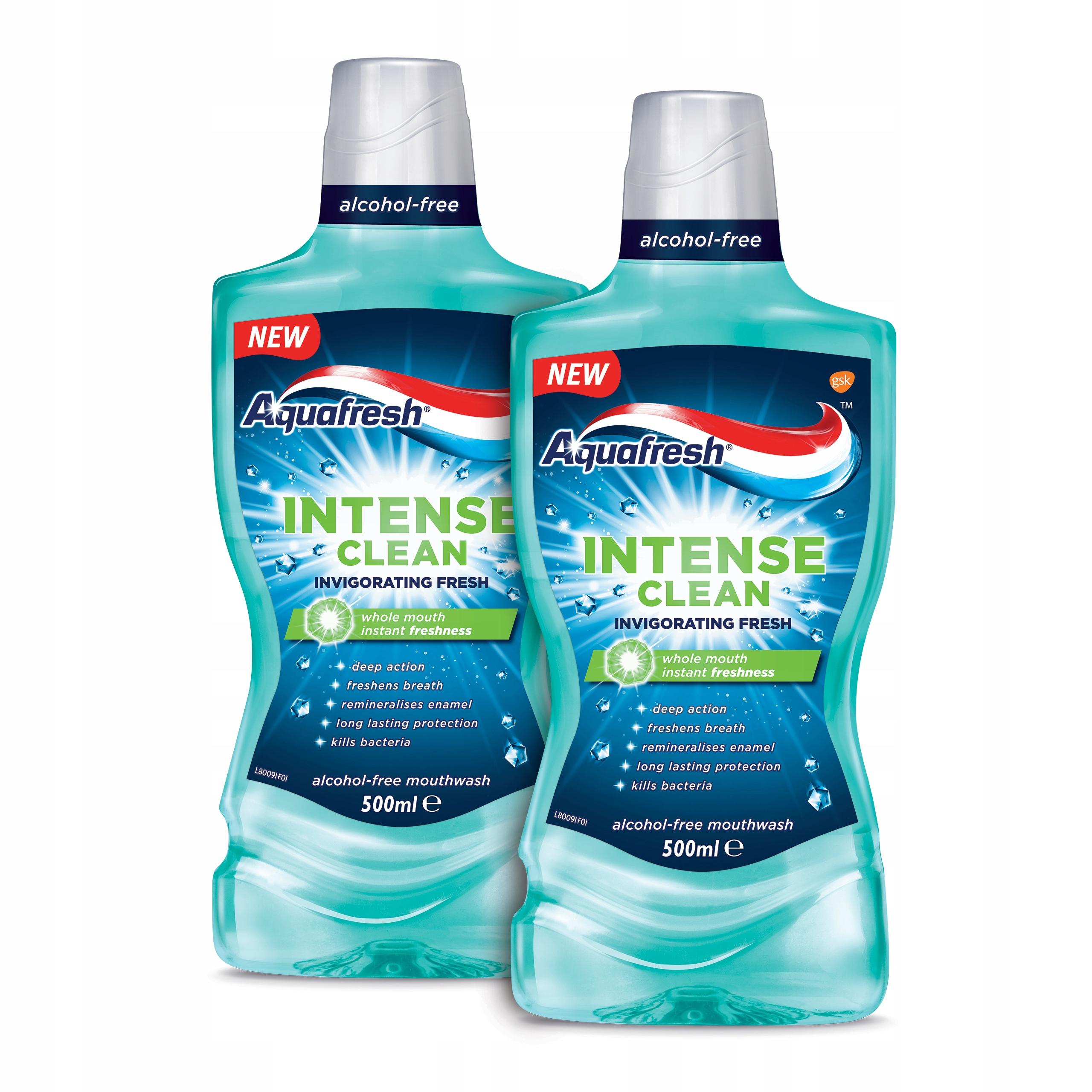 AQUAFRESH Intense Clean płyn jamy ustnej 2x500ml