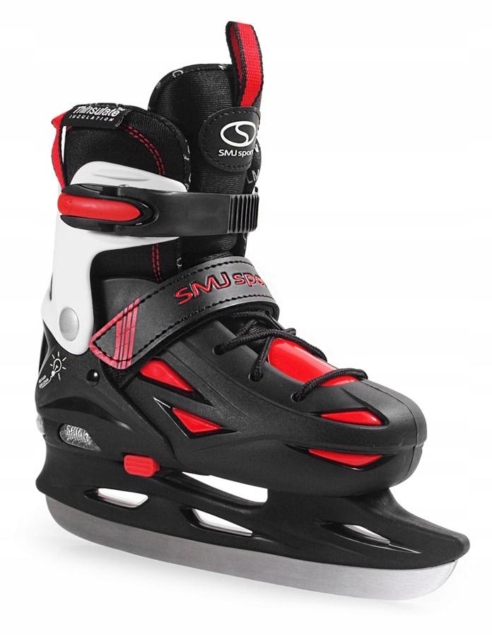 Nastaviteľné korčule SMJ ICE 087 LED BLACK 32-35