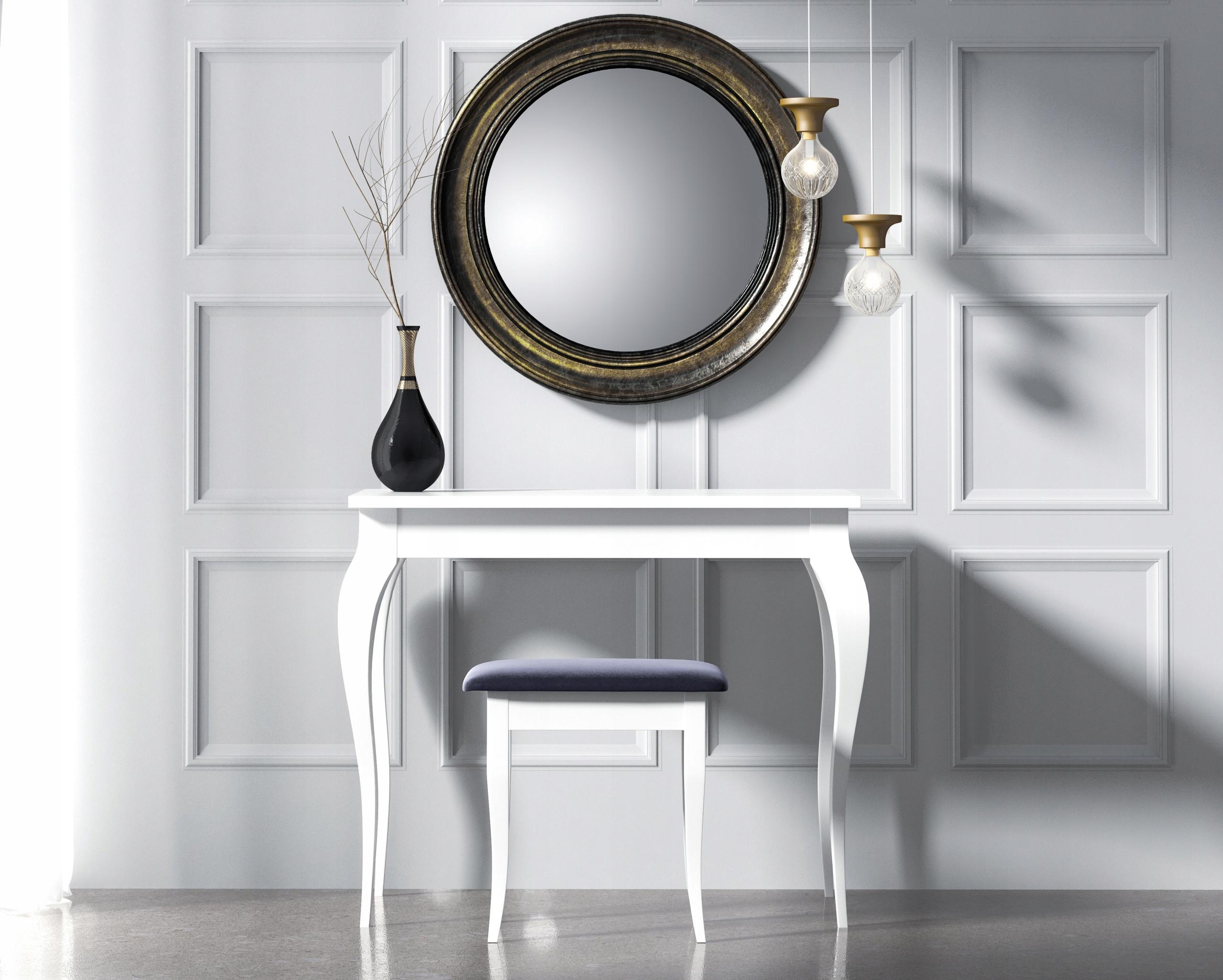 Toaletný stolík Lara 90x50. Biely. Čierna. Šedá. Retro