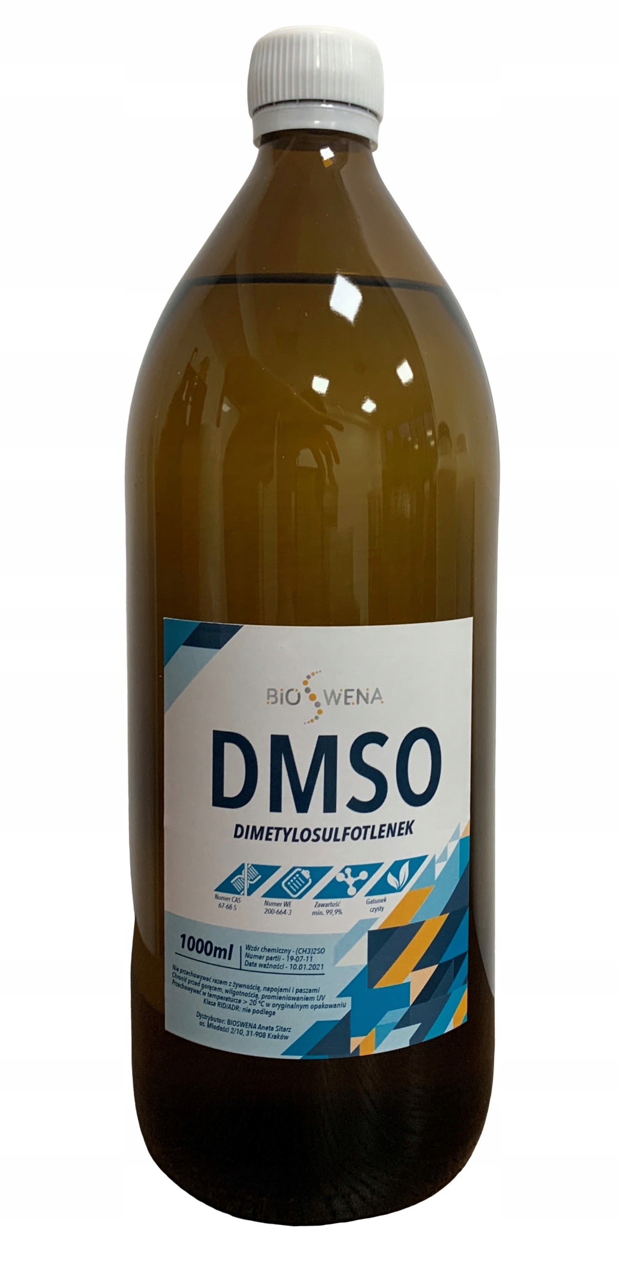 DMSO Диметил сульфоксид PURE 1L литр