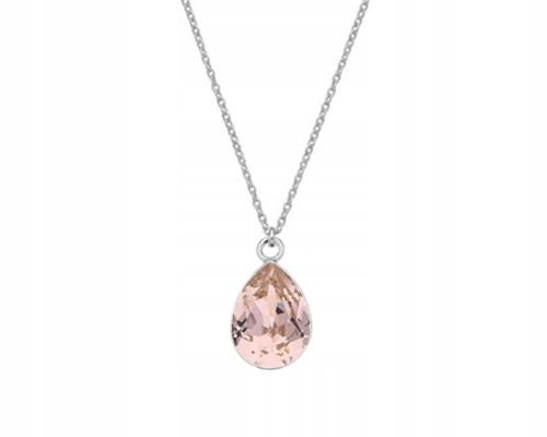 Strieborný náhrdelník s Vintage Rose Swarovski migdałem