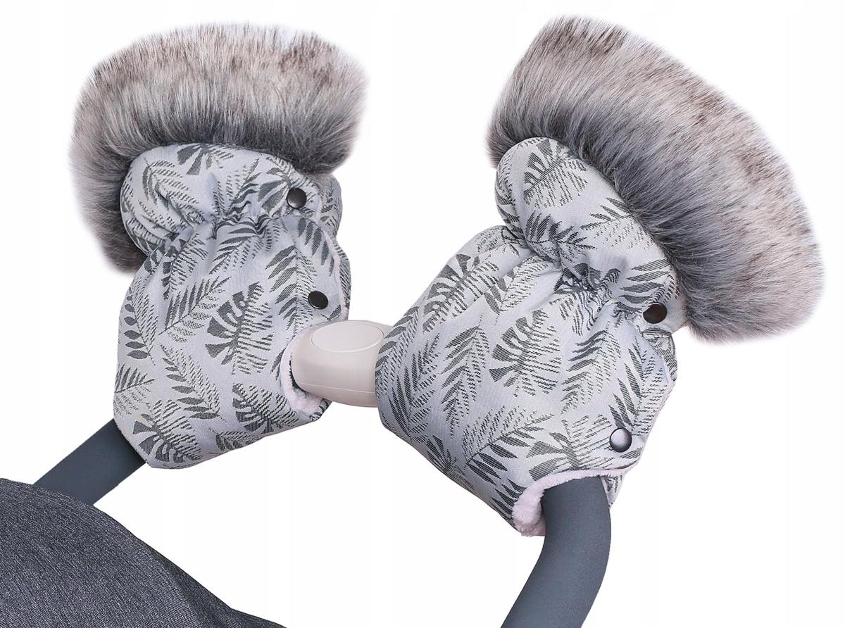 Quali MUFKI с меховыми перчатками для санки-тележки