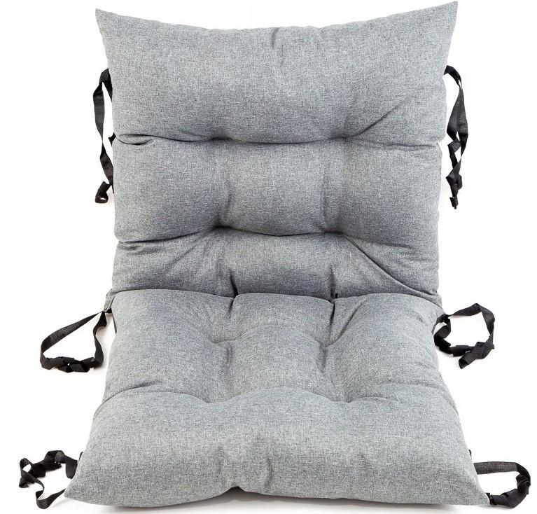 Poduszka na krzesło ogrodowe 50x50x50 Imitacja Lnu