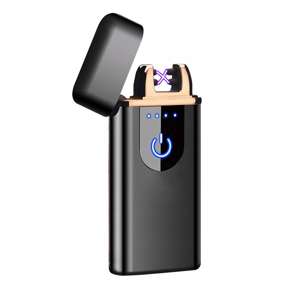 Zapalniczka Plazmowa USB Wskaźnik Baterii Czarna