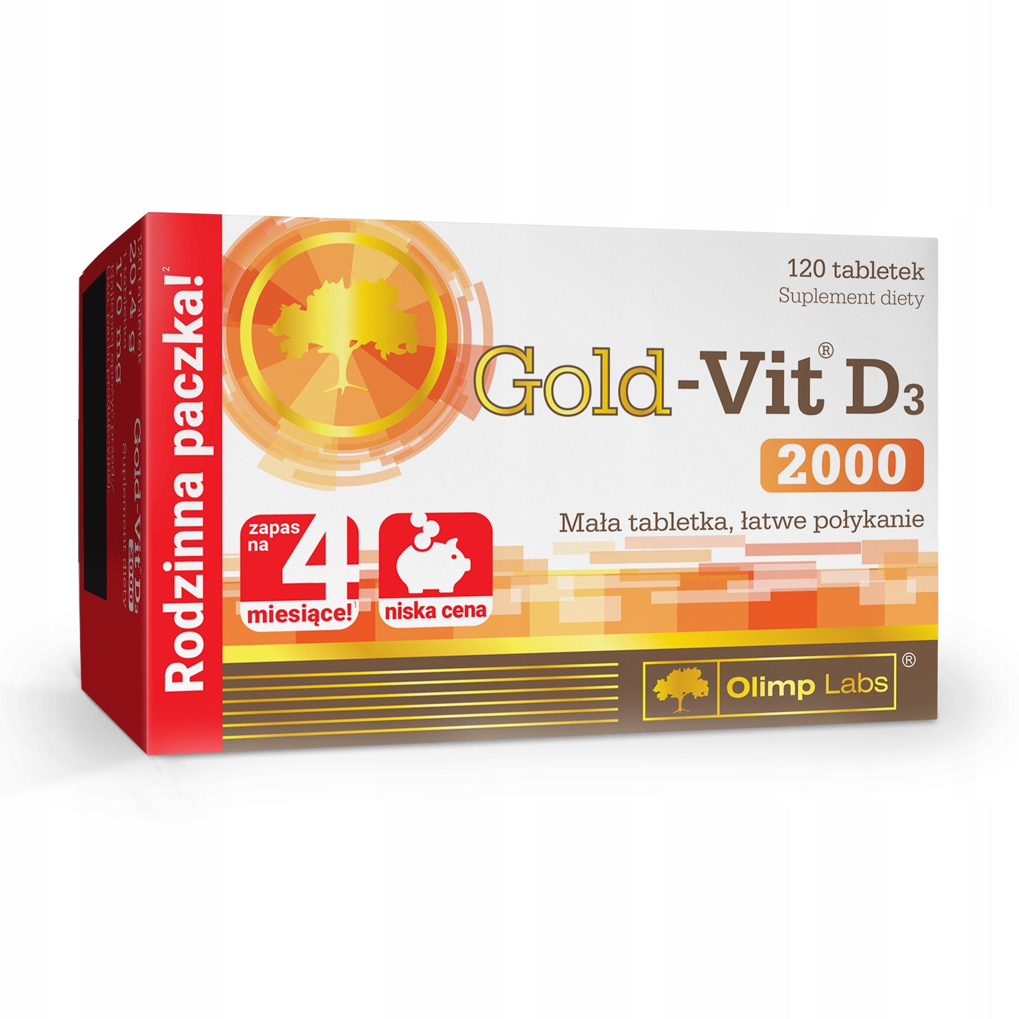 OLIMP GOLD-VIT D3 2000 120tab EKONOMICZNE WITAMINA