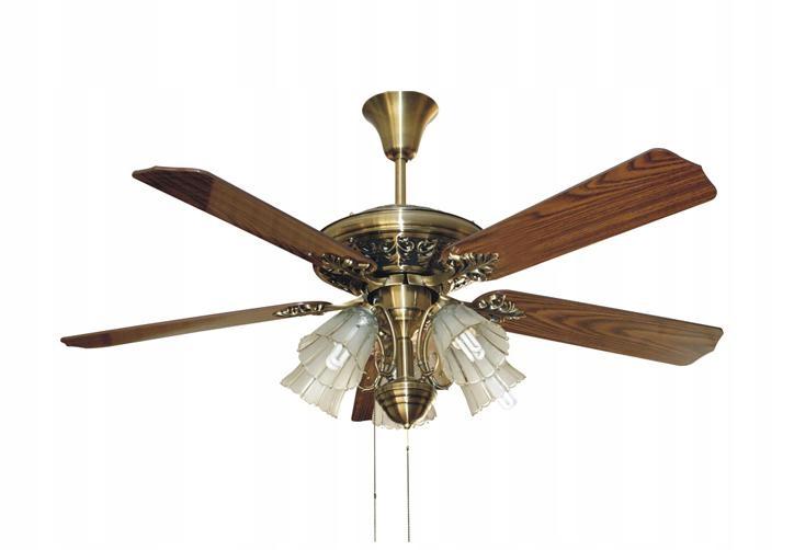 Stropný ventilátor s lampou RETROGOLD vintage