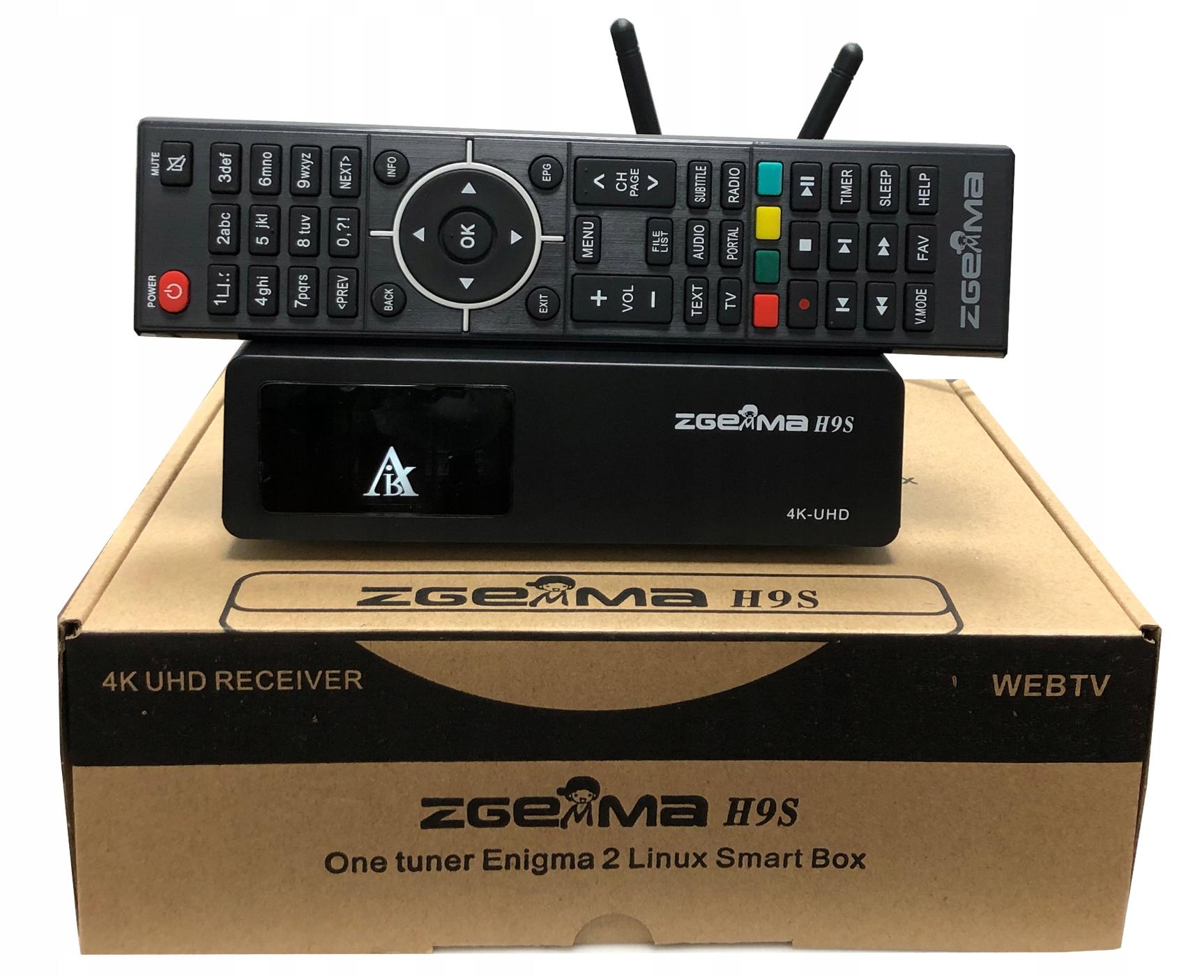 ZGEMMA H9S DECODER 4K ENIGMA2 E2 Ccam Oscam YouTub
