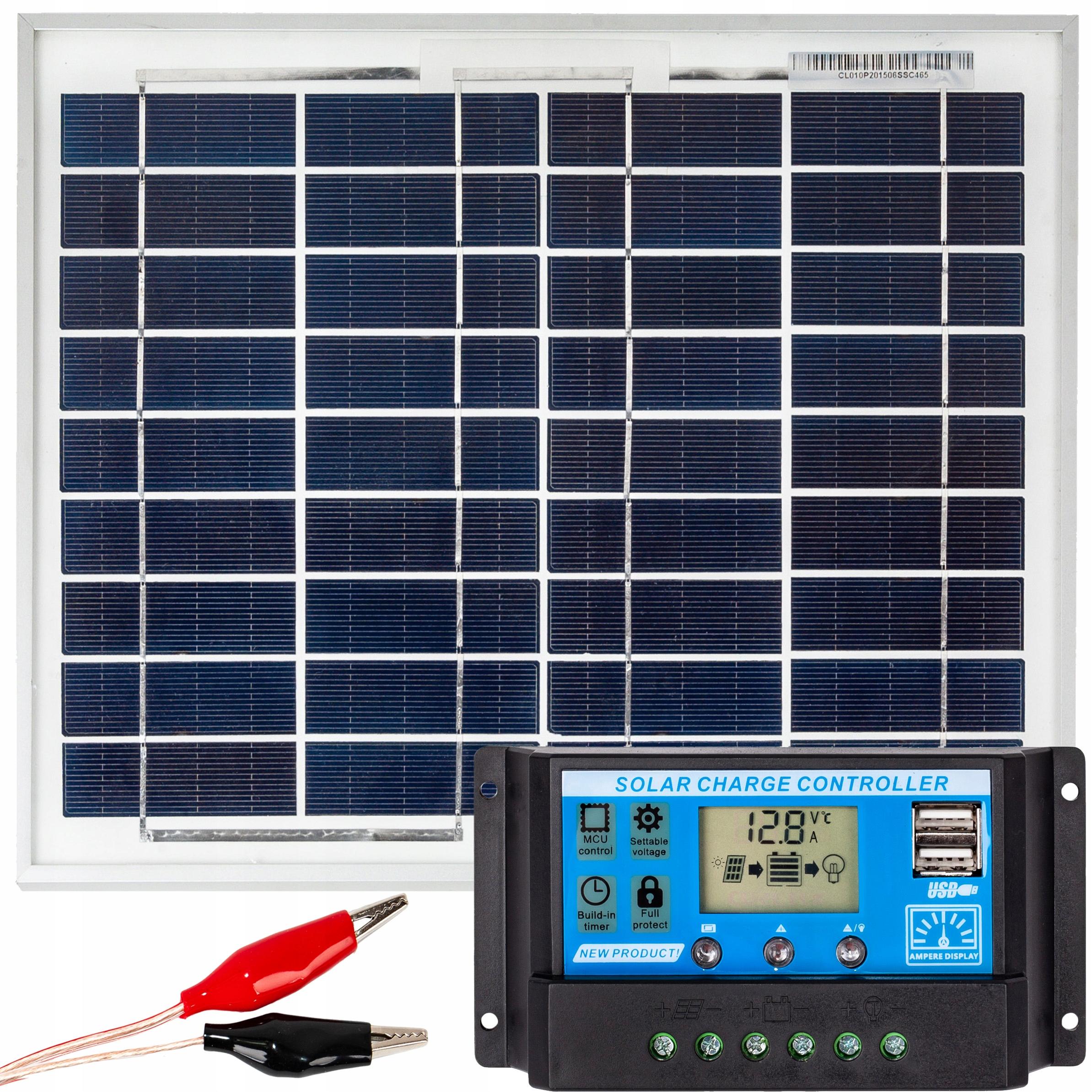 Solárna panelová solárna batéria 10W 12V Regulátor