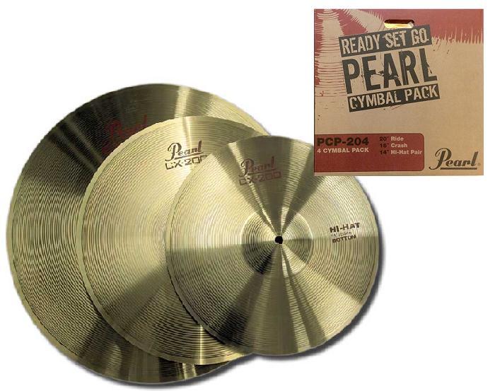 Sada Set Pearl PCP-204 platne Hihat Crash Ride